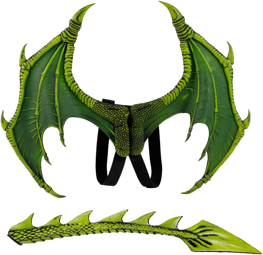 ABOOFAN Oklahoma City Mall Green Dragon Wings and trend rank Accessory Clothing Child Tail Set