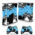 MightySkins Skin Compatible with Microsoft Xbox 360 S Slim + 2 Controller Skins wrap Sticker Skins Hip Splatter by MightySkins