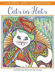 cats in hats a peaceful artist coloring book for adults