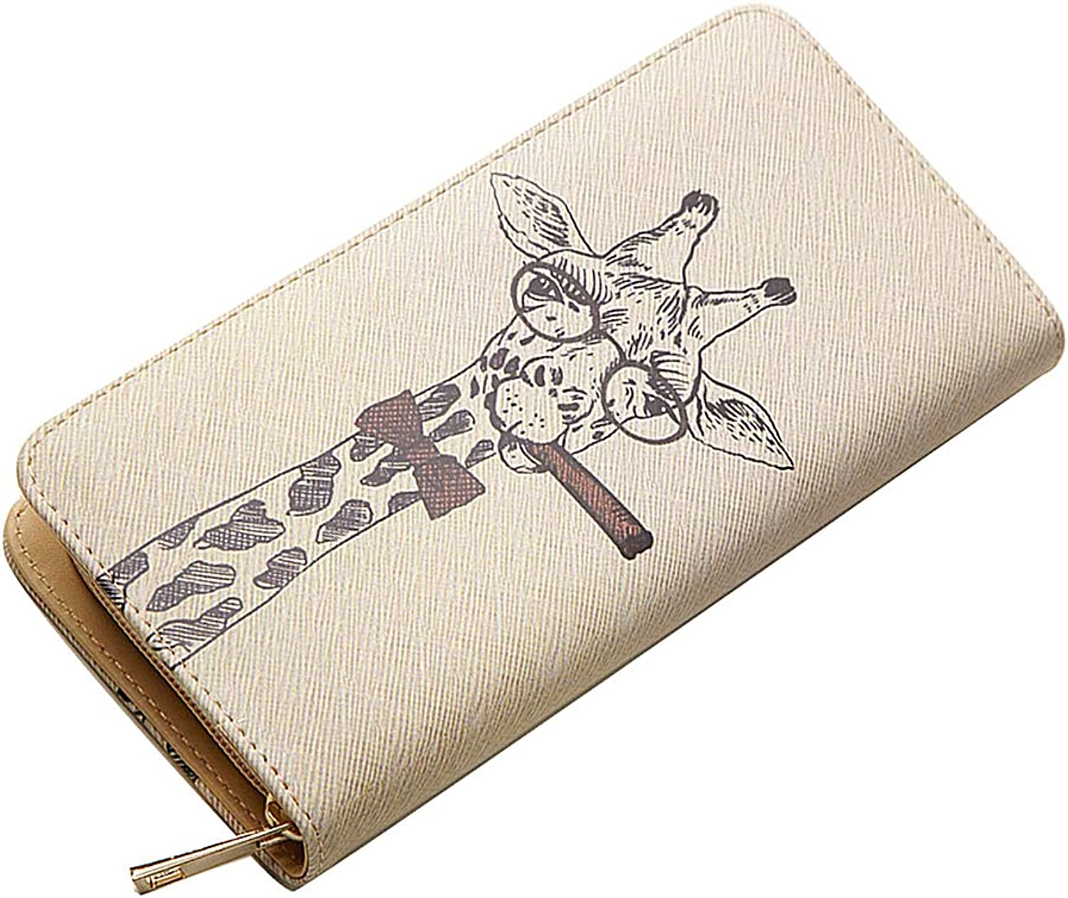 Woolala New Arrival - Unique Illustration Wallet Zipper Accordion Clutch Long Purse for Birthday Holiday Gift, Giraffe