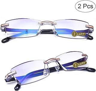 147fc07b16b8 Luff Premium Computer Reading Glasses Blue Light Blocking Diamond Cut Edge  Design Spectacle Readers for Men