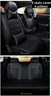 LUOLONG Car Seat Cover,Front+Rear Car Seat Cover for Alfa Romeo 159 Giulia Stelvio ACURA CDX ILX LEGEND MDX RDX RL RLX TL TLX TSX ZDX Car accessories,5seats black