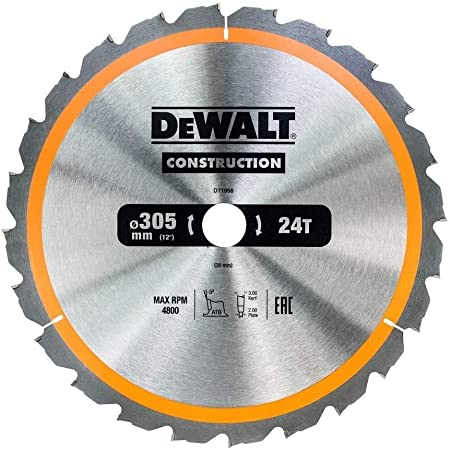 DEWALT DT4280-QZ Hoja para sierra circular estacionaria 260x30mm 80D TCG 5/º