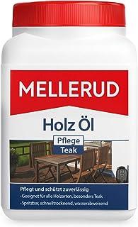 MELLERUD Holz Öl Pflege Teak – Wasserabweisender Schutz vor Verwitterung für alle Teakholzoberflächen im Innen- und Außenbereich – 1 x 0,75 l