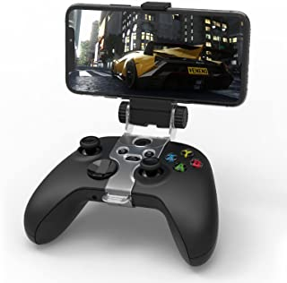 Clip Mount for X-Series S/X, Xbox One/S/X, MENEEA Controller Phone Foldable Clamp Holder Cellphone Stand with Adjustable B...