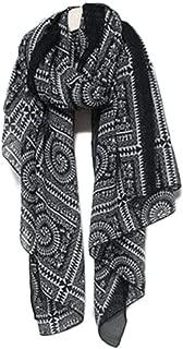 Soft Elegant Silk Scarf Women's Chiffon Vintage Winter Long Scarves Simple Scarf