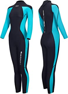Wetsuits Men and Women Guardian 3mm Neoprene Full Scuba Diving Suits Surfing Swimming Long Sleeve Keep Warm Back Zip for Water Sports