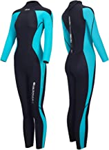 Hevto Wetsuits Men and Women Guardian 3mm Neoprene Full Scuba Diving Suits Surfing Swimming Long Sleeve Keep Warm Back Zip for Water Sports