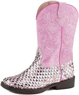 Roper Kids Western Braid Square Toe Boots