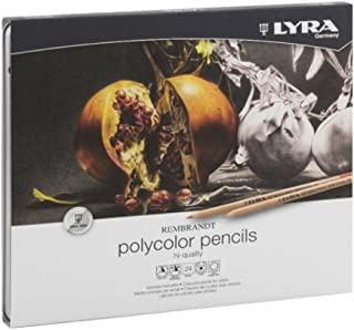 Lyra Rembrandt Polycolor 24-Count Colored Pencils, Tray of 10 24-count Boxes (14564)
