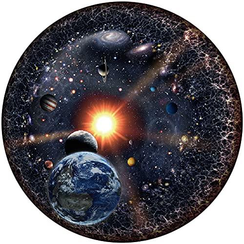 ZoneYan 1000 Piezas Rompecabezas, Rompecabezas Adultos Dificil, Puzzle Rompecabezas,Rompecabezas Redondo, Tierra, 12 Constelaciones, Universo, 67.3 Cm De Diámetro, Juego Familiar, Desafío Divertido