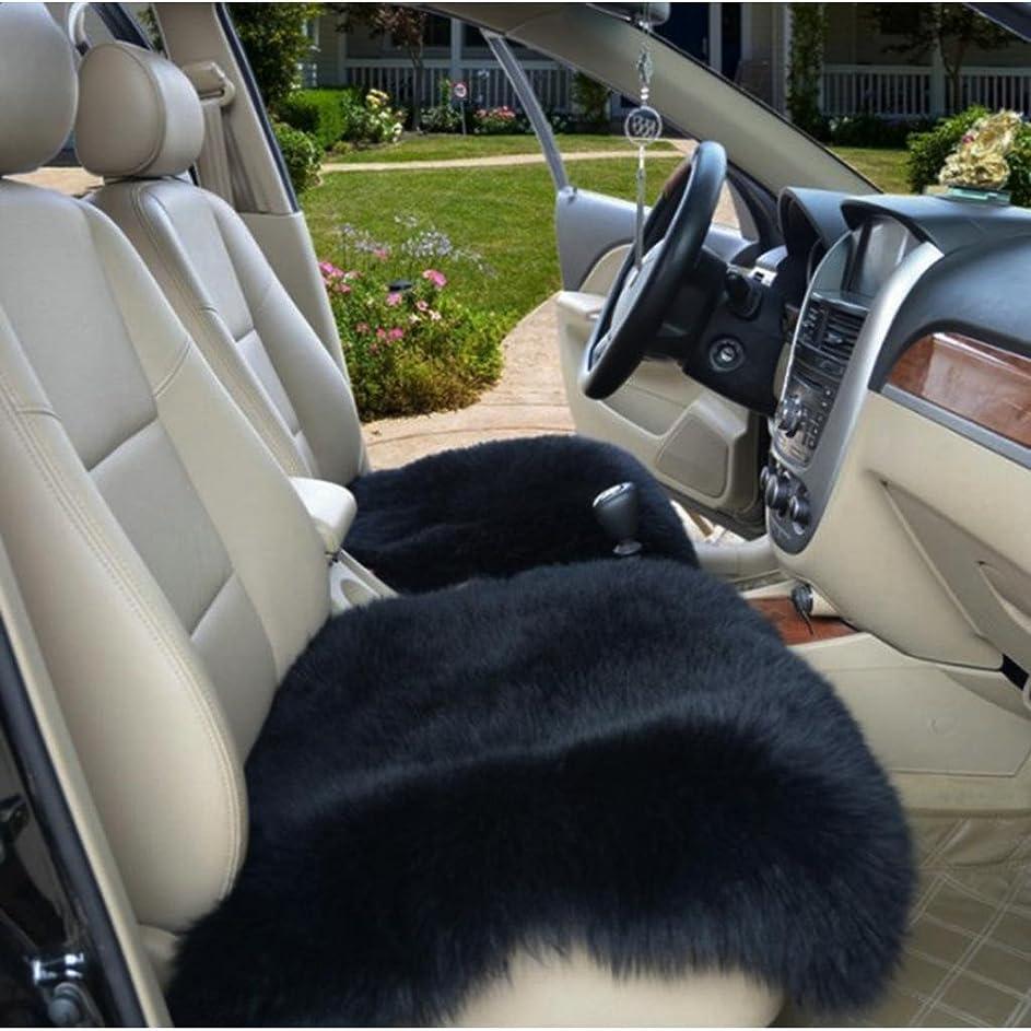 屋内熱心ブランド名Perfeclan 人工シープスキン ラグ エリアラグ 柔らかい 床カーペット ソフト シート クッション 暖かい  - ブラック