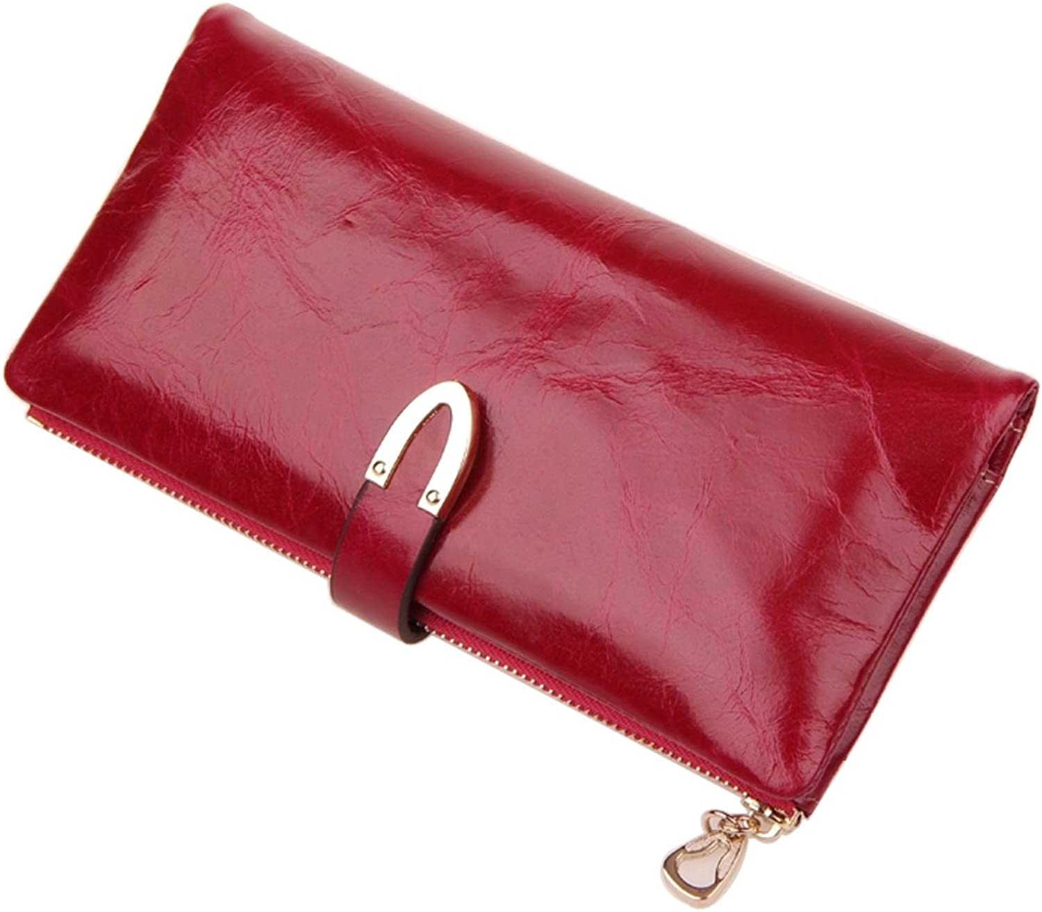 Daiwenwo Women Clutch Long Wallet Leather Coin Purse for Female Cowhide Handbag J31