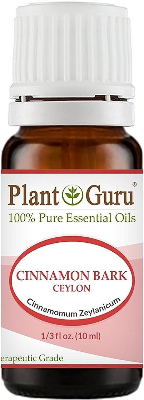 広く糸文明化するCinnamon Bark Essential Oil. 10 ml. 100% Pure, Undiluted, Therapeutic Grade. by Plant Guru