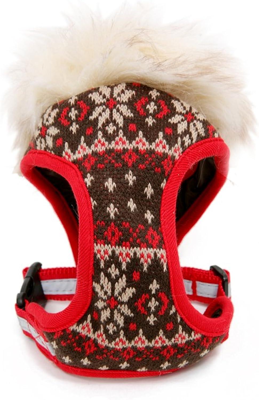 Puppy Angel PA Winter Vest Harness, XL, Red