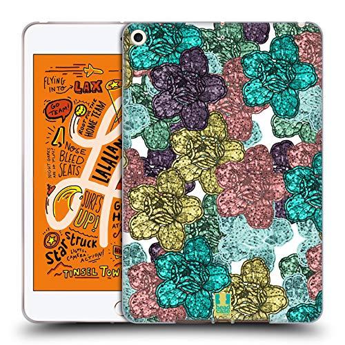 Head Case Designs Ramo de Chispa Florales con Purpurina Carcasa de Gel de Silicona Compatible con Apple iPad Mini (2019)