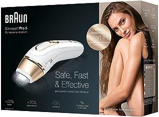 ماكينة ازالة الشعر براون سيلك-اكسبرت برو 5، PL5014، جهاز ازالة الشعر بالنبض الضوئي مع شفرة للحلاقة للنساء