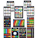Math Posters 12 pack grade school charts Glossy Paper (12.5x18) Young N Refined