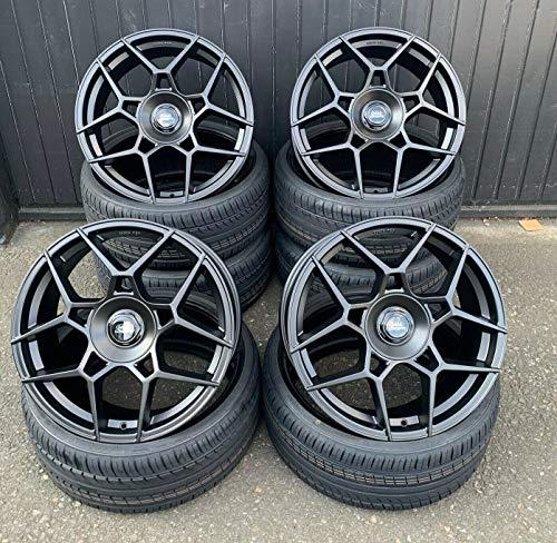 4 x 19 Zoll MM-CONCEPTS MM02 Alu Felgen 8,5x19 5x108 ET45 schwarz matt für C-Max Edge Focus III 3 IV 4 Active Cabrio II 2 RS ST Turnier Galaxy Kuga Mondeo S-MAX NEU