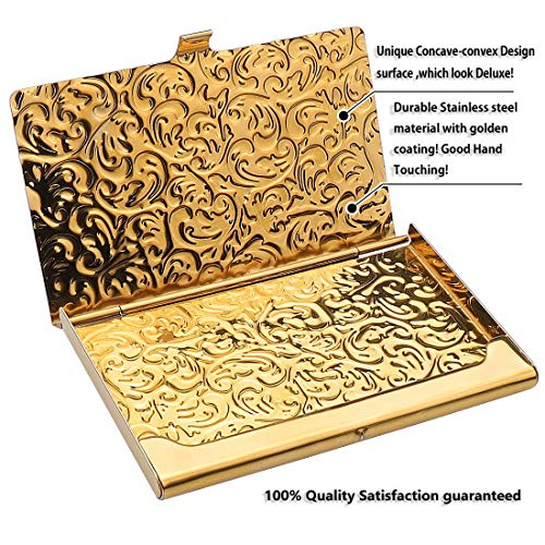 Gold Embossed Damask Business Card Case Photo #4