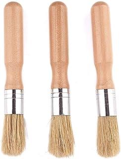 Lot de 3brosses à colle en bois - Pour reliure ou bricolage - Outils