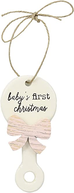 Baby's First Christmas Rattle Ornament
