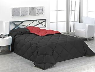 comprar comparacion Sabanalia - Edredón nórdico de 400 g reversible (bicolor), para cama de 135/150 cm, color rojo y negro