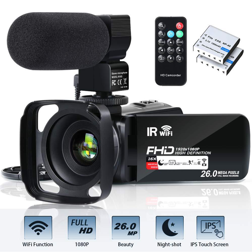 Camcorder Vlogging Recorder Microphone Infrared