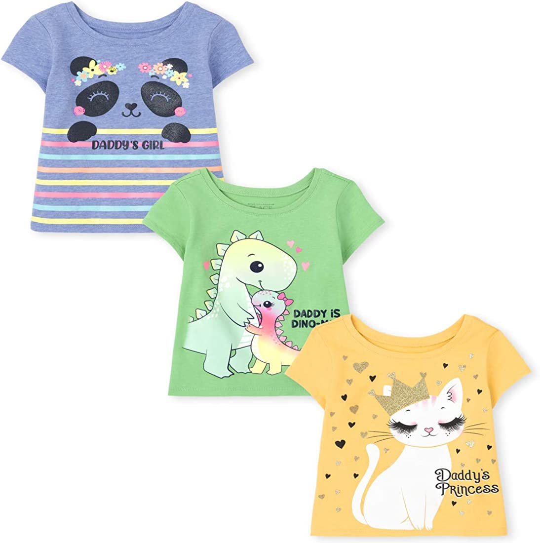 The Children's Place Baby and Toddler Girls Graphic Tee 3-Pack