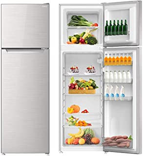 CHiQ 218L CTM218DSK Two Door Direct Cool Refrigerator,Sliver,Save Space,1 Year Warranty