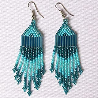 African Zulu beaded earrings - Chandelier NEW DESIGN - Sky Collection - Gift for her