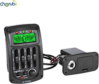 Cherub GS-3 Acoustic 4-Band EQ Equalizer Guitar Preamp Piezo Amplifier with Tuner and Phase Function LCD Display