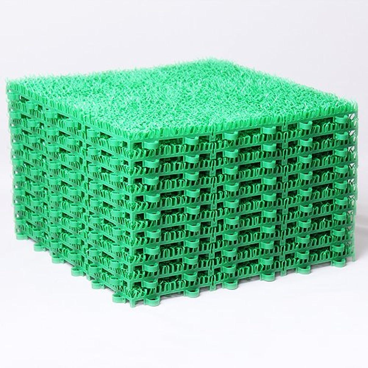クリップ蝶戸口科学高耐久グレード ジョイント式 人工芝 日本製 60枚セット
