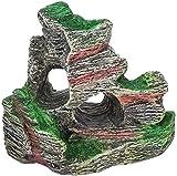 Decoración de la Vista de la montaña, Paisaje de rocalla con Roca ocultando la Cueva, Adorno del Acuario de árbol para la decoración del Tanque de Peces