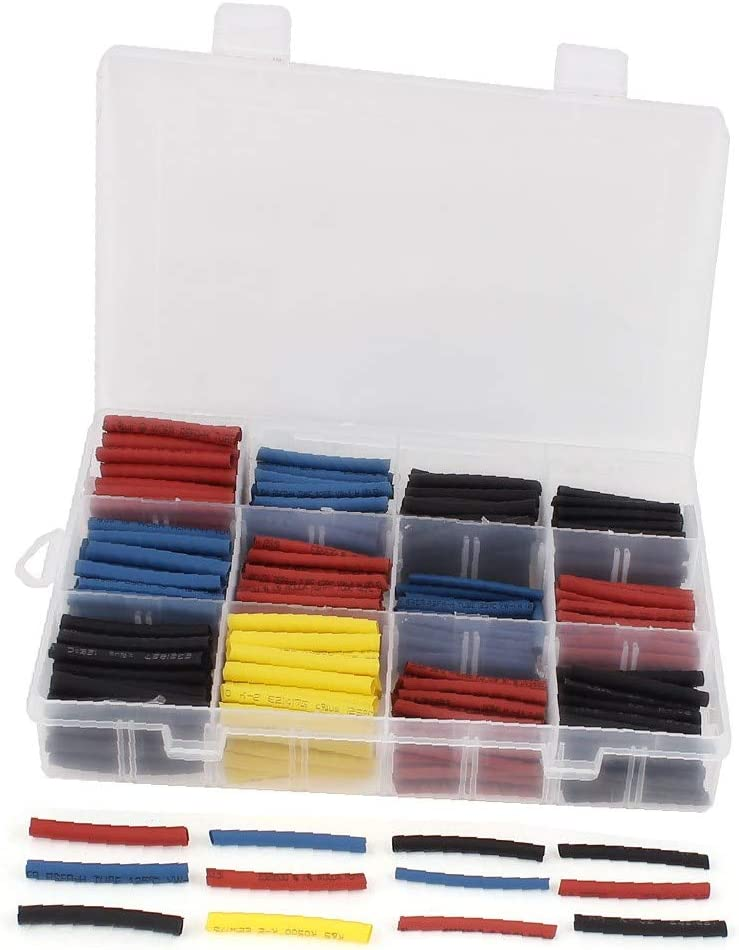 X-DREE 480Pcs 2.5 3 3.5 4mm 2:1 Sleeving Deluxe Shrink W Max 50% OFF Heat Wrap Tube