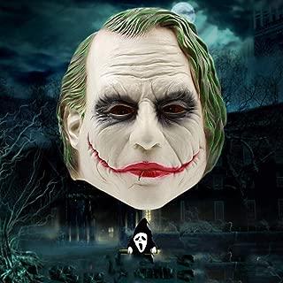 Halloween Clown Mask/Latex Head Cover/Dark Knight Mask/Creepy Old Man Mask happyL