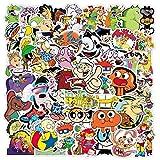 DUOYOU Clásico 90S dibujos animados Graffiti impermeable Skateboard maleta de viaje teléfono móvil equipaje etiqueta lindo niños niña juguete 50 unids