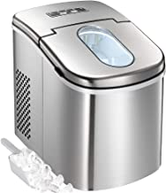 Tavata Countertop Portable Ice Maker Machine, 9 Ice Cubes Ready in 6 Mins, Makes 26 lbs of Ice per 24 Hours, Stainless Steel Ice Maker with Ice Scoop and Basket (Full Stainless Steel)
