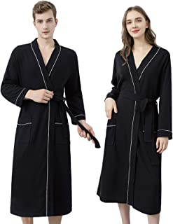 YiyiLai Women Waffle Dressing Gown, Men Kimono Bathrobe, Couples Novelty Nightwear, Spa Hotel Home Bath Robe