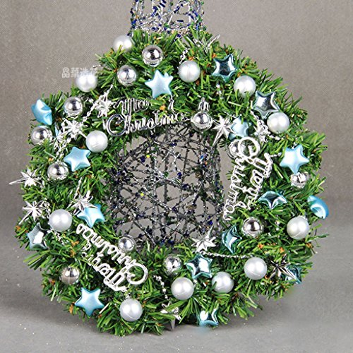 Lowest Price! LAOHAO 30cm Christmas Ring Wreath Set High-Grade Exquisite Christmas Ornaments Gift De...