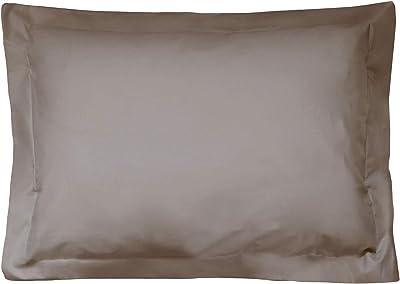 Funda de almohada algodón, 70 x 50 cm, color beige: Amazon.es: Hogar