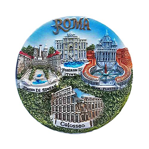 3D Roma Italia Frigorifero Magnete Ornamento Viaggio Adesivo Souvenirs, Resina Casa & Cucina Decorazione, Roma Italia Frigo Magnete dalla Cina