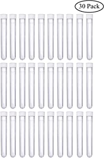 Joyclub15x100mm Clear Plastic Test Tubes with Caps for Scientific Experiments, Halloween, Christamas, Scientific Themed Kids Birthday Party Supplies, Decorate The House, Candy Storage(30 Pack)