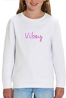 London Co. Love Island Vibey Children's Unisex White Sweatshirt