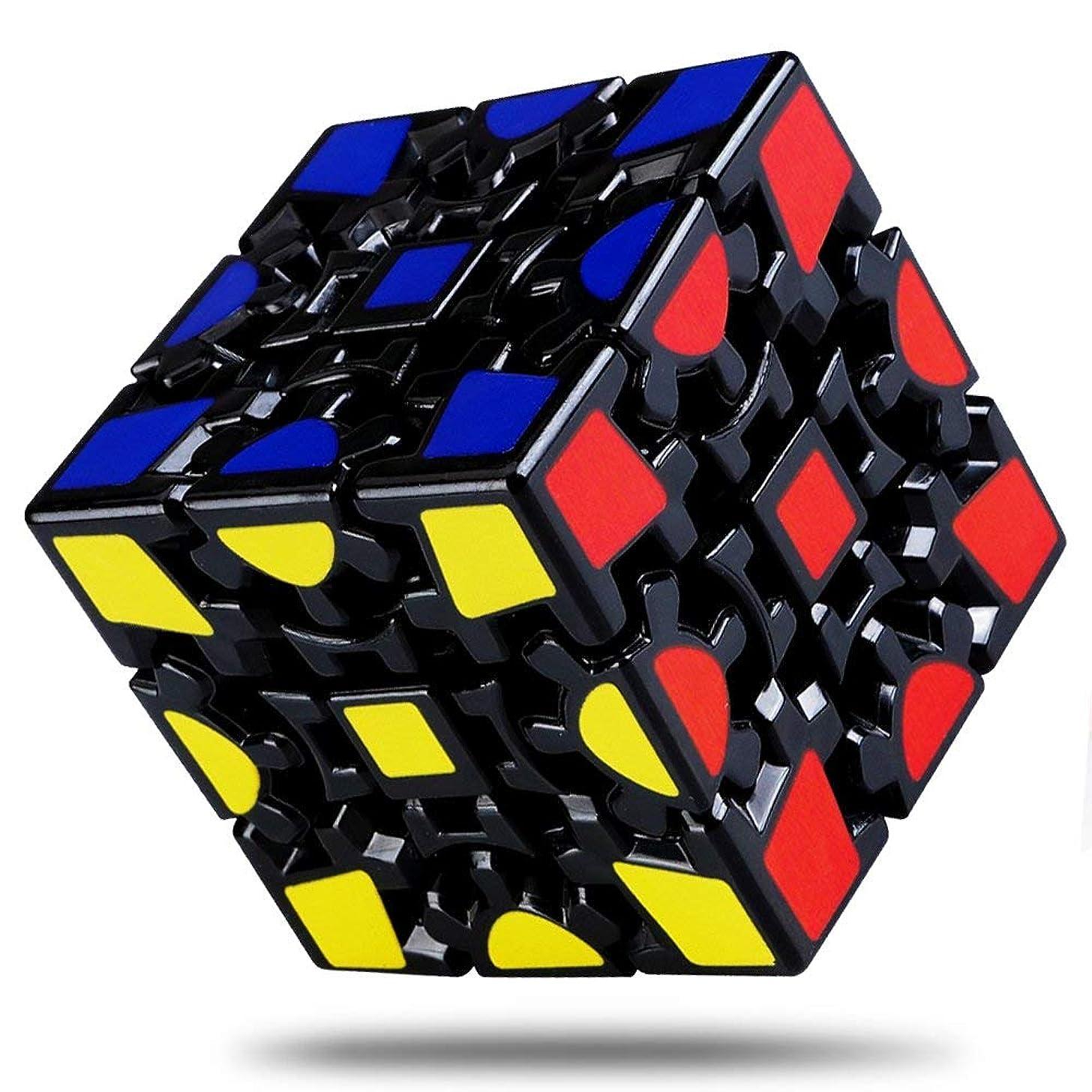 Wannabuy Magic Combination 3D Rubiks Gear Cube, 3x3 Match-specific Rubiks Cube Stickerless Twisty Puzzle