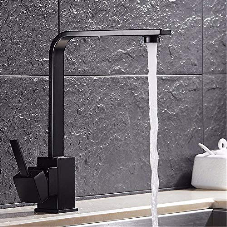 LANTA Home Waschbecken-Mischbatterie Badezimmer-Küche-Becken-Hahn auslaufsicher speichern Wasser Küche schwarz Swivel voll Kupfer Waschbecken Emaille hei und kalt
