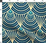 1920er Jahre, Art Deco, Geometrisch, Muster, Gelb, Grün