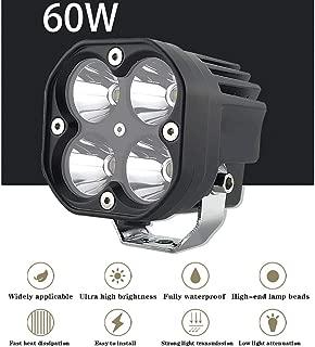 Moligh doll 12V 5Wsmd Une Men/é la Lampe Ext/éRieure L/éG/èRe de Porche de Lampe DAuvent pour Les Accessoires de Voiture de Marine de RV de Caravane Blanc
