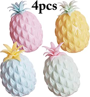 B bangcool 4PCS Kids Squishy Toy Pineapple Design Slow Rising Toy for Stress Relief