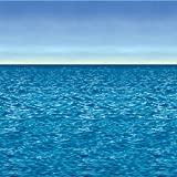Beistle 52027 Toile de fond océan et ciel en plastique, multicolore